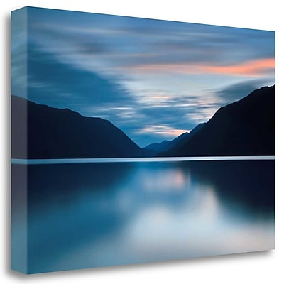 Tangletown Fine Art 'Lake Crescent Dusk' Photographic Print on Wrapped Canvas; 22'' H x 33'' W