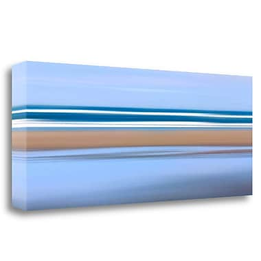 Tangletown Fine Art 'Pacific Stripes' Graphic Art Print on Wrapped Canvas; 16'' H x 39'' W