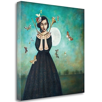 Tangletown Fine Art 'Evening Echoes' Graphic Art Print on Wrapped Canvas; 35'' H x 35'' W