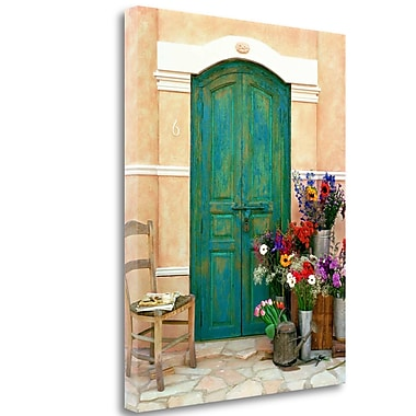Tangletown Fine Art 'Fleuriste, Provence' Photographic Print on Wrapped Canvas; 27'' H x 21'' W