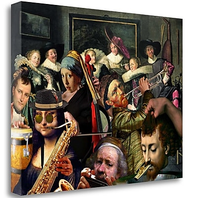 Tangletown Fine Art 'Dinner Music' Graphic Art Print on Wrapped Canvas; 35'' H x 47'' W