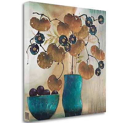 Tangletown Fine Art 'Raku Bowl and Vase' Print on Wrapped Canvas; 35'' H x 35'' W