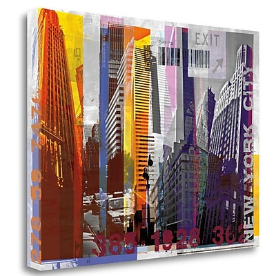 Tangletown Fine Art 'New York Sky Urban' Graphic Art Print on Wrapped Canvas; 28'' H x 36'' W