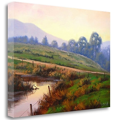 Tangletown Fine Art 'Afternoon Glow' Print on Wrapped Canvas; 20'' H x 26'' W