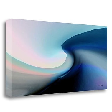 Tangletown Fine Art 'Ocean Vibes 2' Graphic Art Print on Wrapped Canvas; 20'' H x 40'' W