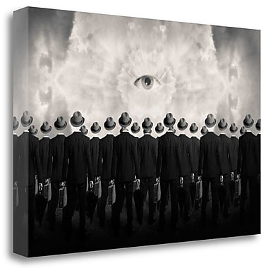 Tangletown Fine Art 'Drones' Graphic Art Print on Wrapped Canvas; 19'' H x 28'' W
