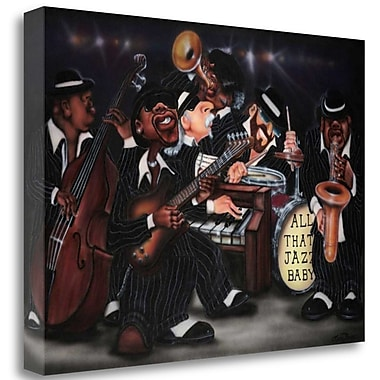 Tangletown Fine Art 'All That Jazz-Baby' Graphic Art Print on Wrapped Canvas; 20'' H x 28'' W