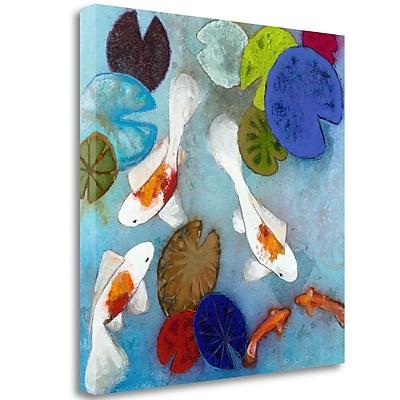 Tangletown Fine Art 'Koi 1' Print on Wrapped Canvas; 35'' H x 35'' W