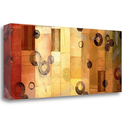 Tangletown Fine Art 'Of This World No. 8' Graphic Art Print on Wrapped Canvas; 14'' H x 34'' W