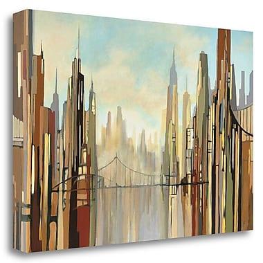 Tangletown Fine Art 'Metropolis' Graphic Art Print on Wrapped Canvas; 23'' H x 34'' W