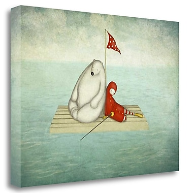 Tangletown Fine Art 'Calm Water' Graphic Art Print on Wrapped Canvas; 23'' H x 33'' W