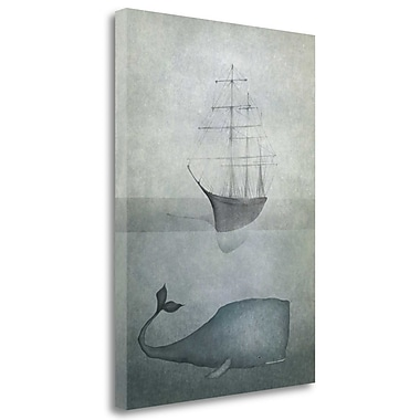 Tangletown Fine Art 'Deep Water' Graphic Art Print on Wrapped Canvas; 37'' H x 27'' W