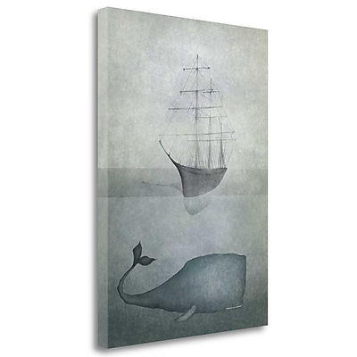 Tangletown Fine Art 'Deep Water' Graphic Art Print on Wrapped Canvas; 28'' H x 20'' W