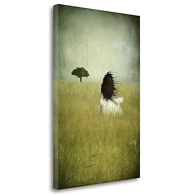 Tangletown Fine Art 'Girl on the Field' Graphic Art Print on Wrapped Canvas; 37'' H x 25'' W
