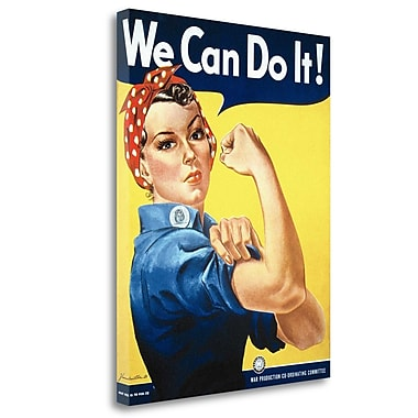 Tangletown Fine Art 'Rosie the Riveter' Vintage Advertisement on Wrapped Canvas; 29'' H x 23'' W