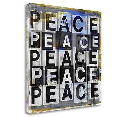Tangletown Fine Art 'Peace' Textual Art on Wrapped Canvas; 35'' H x 35'' W