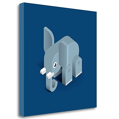 Tangletown Fine Art 'Elephant' Graphic Art Print on Wrapped Canvas; 35'' H x 35'' W