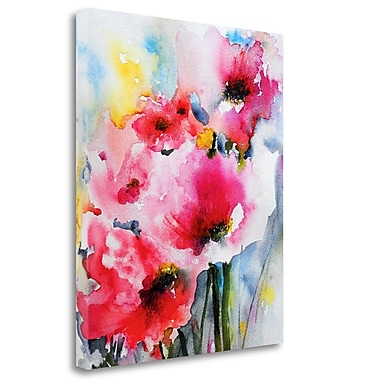Tangletown Fine Art 'Summer Poppies II' Print on Wrapped Canvas; 36'' H x 30'' W