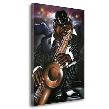 Tangletown Fine Art 'Jazzman Moe' Graphic Art Print on Wrapped Canvas; 40'' H x 30'' W