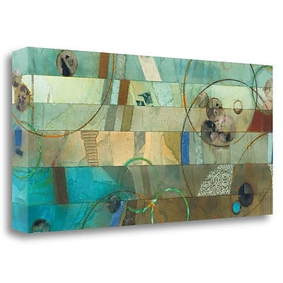Tangletown Fine Art 'Of This World No. 18' Graphic Art Print on Wrapped Canvas; 19'' H x 39'' W