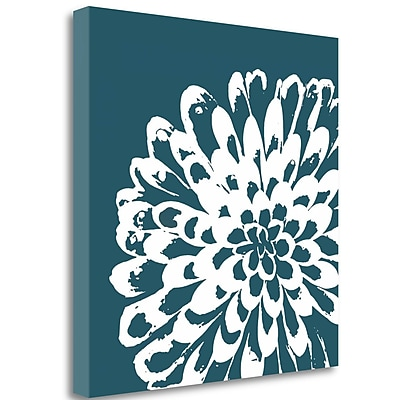Tangletown Fine Art 'Graphic Flower 1' Graphic Art Print on Wrapped Canvas; 30'' H x 30'' W