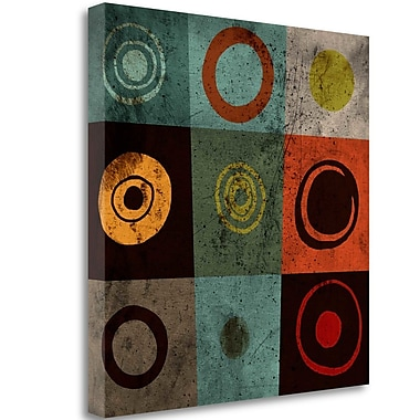 Tangletown Fine Art 'Tiles Circles' Graphic Art Print on Wrapped Canvas; 30'' H x 30'' W