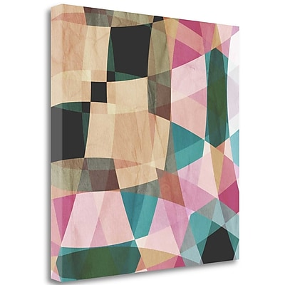 Tangletown Fine Art 'Geometric Design 2' Graphic Art Print on Wrapped Canvas; 25'' H x 25'' W