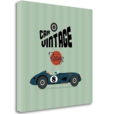 Tangletown Fine Art 'Vintage Racing 1' Vintage Advertisement on Wrapped Canvas; 29'' H x 29'' W