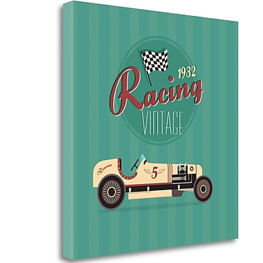 Tangletown Fine Art 'Vintage Racing 2' Vintage Advertisement on Wrapped Canvas; 24'' H x 24'' W
