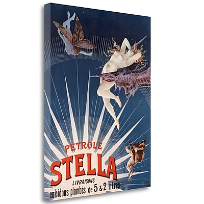 Tangletown Fine Art 'P trole Stella' Vintage Advertisement on Wrapped Canvas; 40'' H x 31'' W