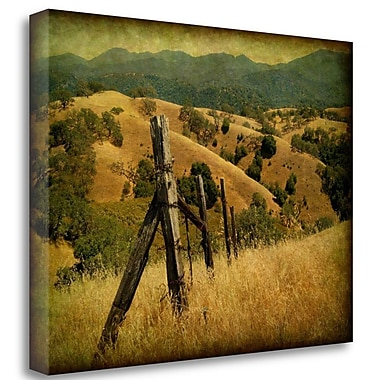 Tangletown Fine Art 'Weathered Ranch Fence' Photographic Print on Wrapped Canvas; 24'' H x 32'' W