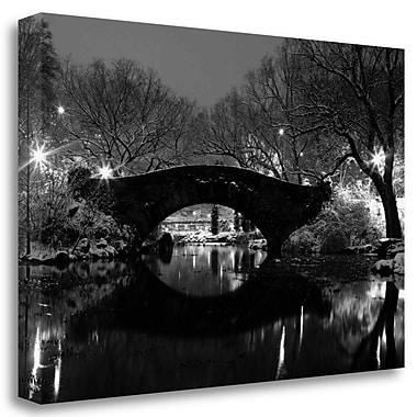 Tangletown Fine Art 'Bridge' Photographic Print on Wrapped Canvas; 19'' H x 29'' W