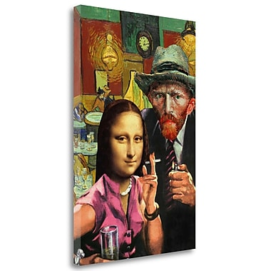 Tangletown Fine Art 'Ladies Night' Graphic Art Print on Wrapped Canvas; 40'' H x 26'' W