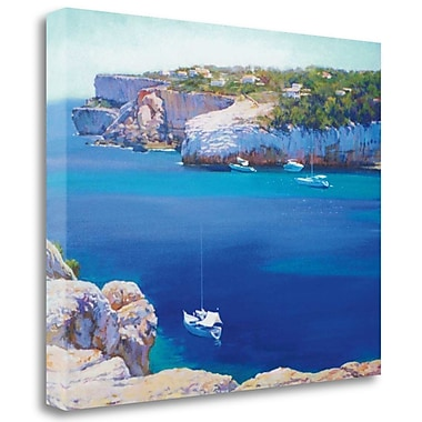 Tangletown Fine Art 'Cala Llombards' Print on Wrapped Canvas; 31'' H x 39'' W