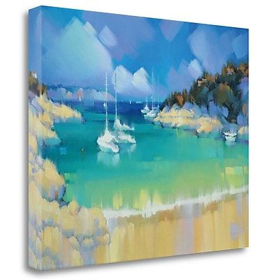 Tangletown Fine Art 'Cala Llombards IV' Print on Wrapped Canvas; 35'' H x 44'' W