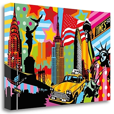 Tangletown Fine Art 'New York Taxi I' Graphic Art Print on Wrapped Canvas; 27'' H x 39'' W