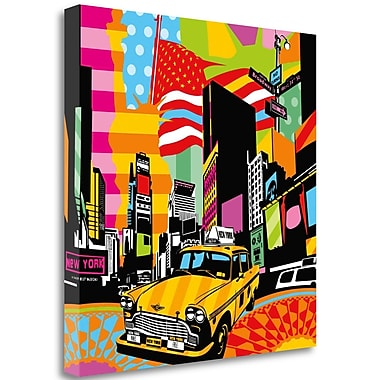 Tangletown Fine Art 'New York Taxi II' Graphic Art Print on Wrapped Canvas; 35'' H x 35'' W