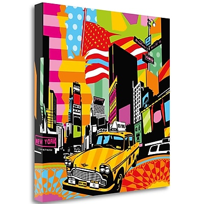 Tangletown Fine Art 'New York Taxi II' Graphic Art Print on Wrapped Canvas; 25'' H x 25'' W