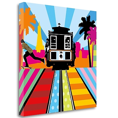 Tangletown Fine Art 'San Francisco Sunrise' Graphic Art Print on Wrapped Canvas; 30'' H x 30'' W