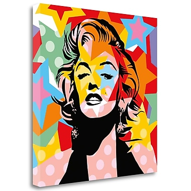 Tangletown Fine Art 'Star' Graphic Art Print on Wrapped Canvas; 25'' H x 25'' W