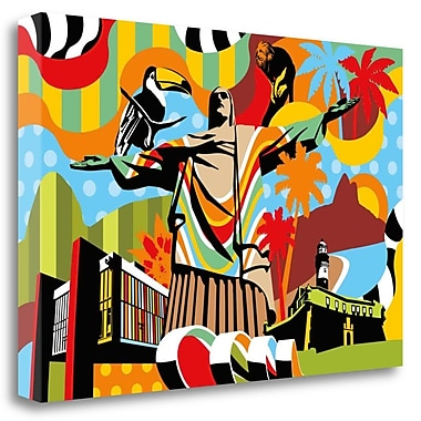 Tangletown Fine Art 'Brazil' Graphic Art Print on Wrapped Canvas; 23'' H x 34'' W