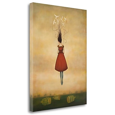 Tangletown Fine Art 'Suspension of Disbelief' Graphic Art Print on Wrapped Canvas; 32'' H x 24'' W