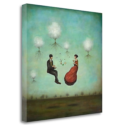 Tangletown Fine Art 'Gravitea for Two' Graphic Art Print on Wrapped Canvas; 25'' H x 25'' W