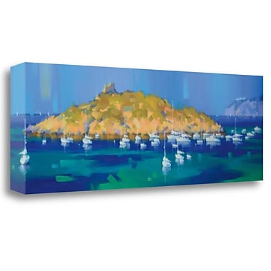 Tangletown Fine Art 'Island' Print on Wrapped Canvas; 16'' H x 48'' W