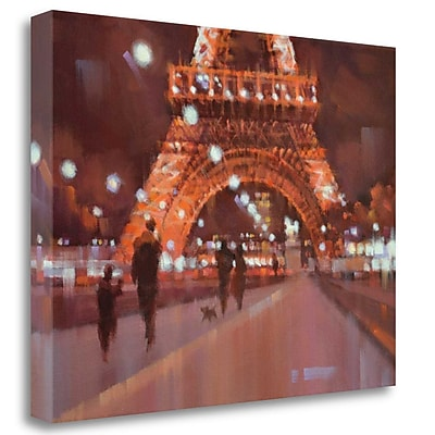 Tangletown Fine Art 'Paris at Night' Print on Wrapped Canvas; 35'' H x 47'' W