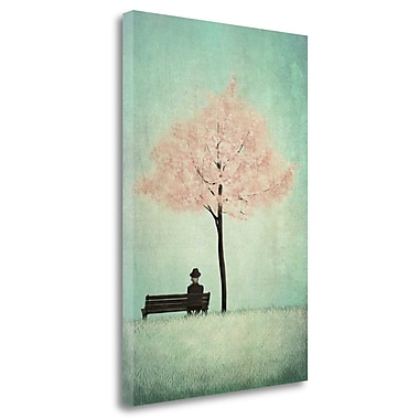 Tangletown Fine Art 'The Cherry Tree - Spring' Graphic Art Print on Wrapped Canvas; 29'' H x 20'' W