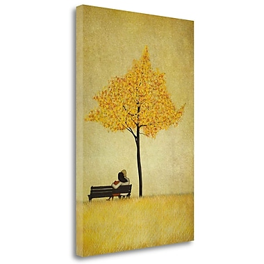 Tangletown Fine Art 'The Cherry Tree - Fall' Graphic Art Print on Wrapped Canvas; 29'' H x 20'' W