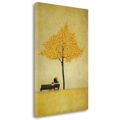 Tangletown Fine Art 'The Cherry Tree - Fall' Graphic Art Print on Wrapped Canvas; 48'' H x 32'' W