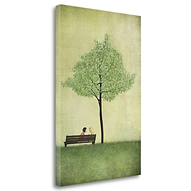 Tangletown Fine Art 'The Cherry Tree - Summer' Graphic Art Print on Wrapped Canvas; 29'' H x 20'' W