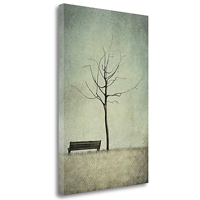 Tangletown Fine Art 'The Cherry Tree - Winter' Graphic Art Print on Wrapped Canvas; 39'' H x 26'' W
